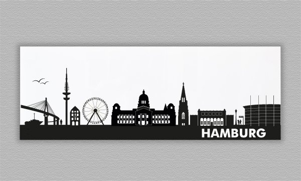 skyline hamburg acrylglas 84 x 30 cm. Black Bedroom Furniture Sets. Home Design Ideas