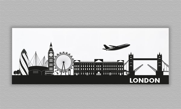 Skyline LONDON - Acrylglas - 119 x 42 cm