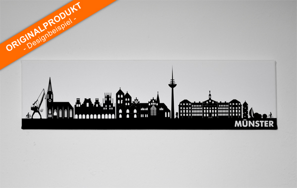 meine skyline stadt silhouetten wandbilder bedruckt. Black Bedroom Furniture Sets. Home Design Ideas